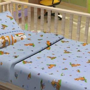 Постельное белье для младенцев Kidsdreams – Зверята путешественники 100×150