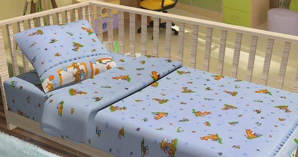 Постельное белье для младенцев Kidsdreams — Зверята путешественники 100×150