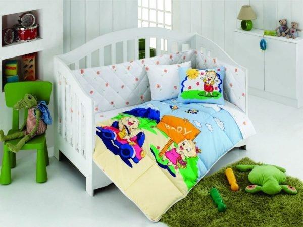 купить Постельное белье для младенцев Kristal - Afacan голубой (8110)