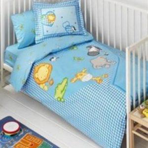 Постельное белье для младенцев TAC Disney – Zooland голубой 100×150