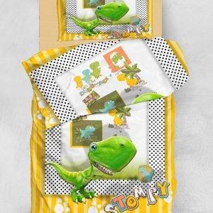 Постельное белье для подростков Eponj Home 3D Micro Satin — Stompy Sari-Yesil 160×220