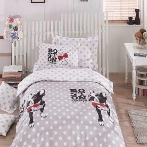 Постельное белье для подростков Eponj Home – Boston Gri 160×220