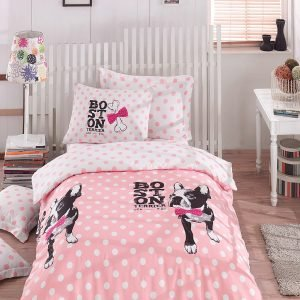 Постельное белье для подростков Eponj Home – Boston Pembe 160×220 9065bcdfc049d