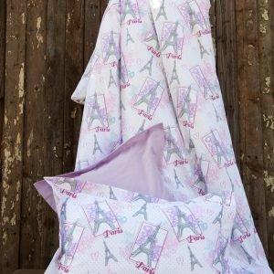 Постельное белье для подростков Lotus Premium B&G – Eifel лиловый 145×210