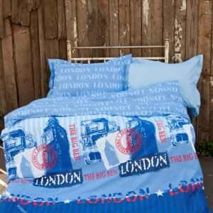 Постельное белье для подростков Lotus Premium B&G – Slang голубой 145×210