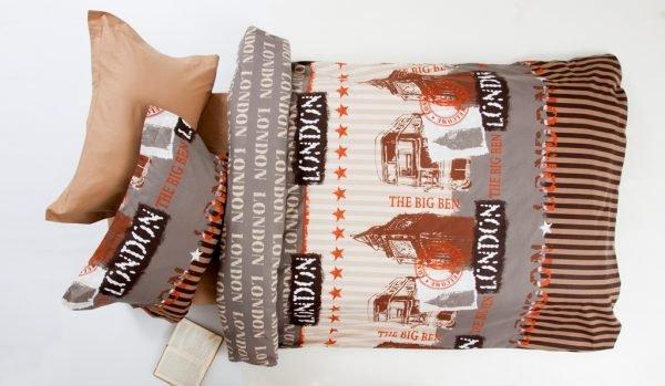 Постельное белье для подростков Lotus Premium B&G — Slang кофе 145×210