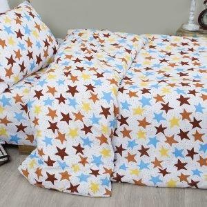 Постельное белье для подростков Lotus Young – Star кофе 145×210