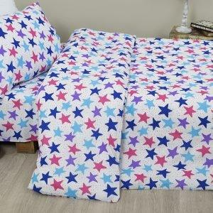 Постельное белье для подростков Lotus Young – Star синий 145×210