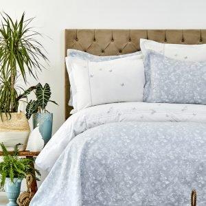 Постельное белье с покрывалом Karaca Home — Mariposa gri 2019-1 200×220