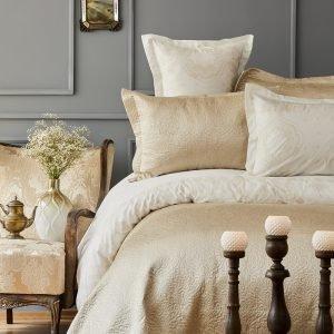 Постельное белье с покрывалом Karaca Home — Nora bej 2019-1 200×220
