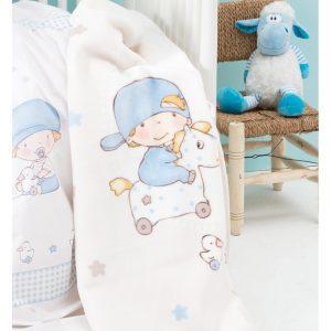 Детский плед в кроватку Karaca Home – Baby Boys 2017-1 100×120