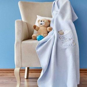 Детский плед в кроватку Karaca Home – Cloudy Mavi 2018-2 100×120