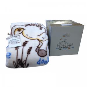 Детский плед в кроватку Karaca Home – Donkey's World 100×120