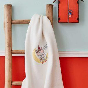 Детский плед в кроватку Karaca Home – Dreamer Beyaz 2018-2 100×120