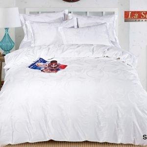 Однотонное постельное белье La Scala сатин SJ-05