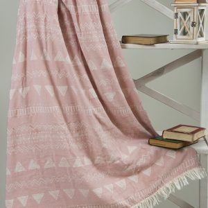 Плед микроплюш Barine — Chalkboard Throw Pink 130×170