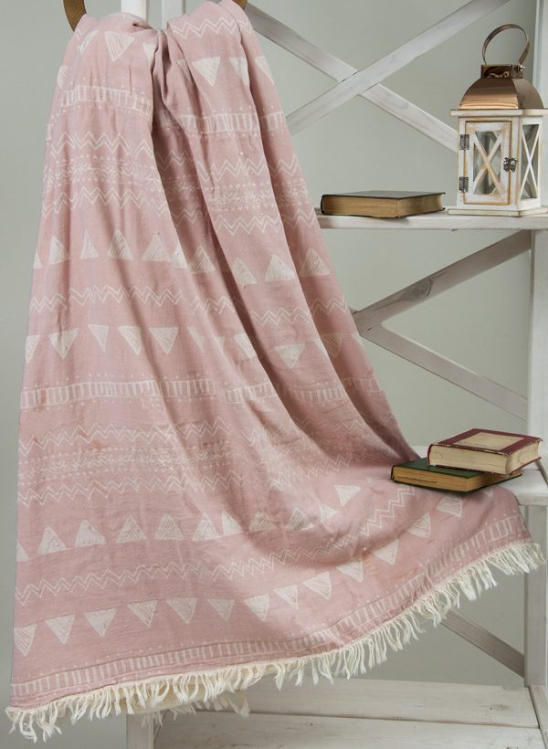 Плед микроплюш Barine — Chalkboard Throw Pink 130×170