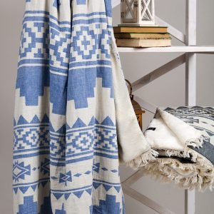 Плед микроплюш Barine – Rug Throw denim 125×170