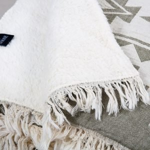 Плед микроплюш Barine – Rug Throw khaki 130×170