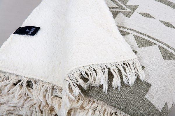 Плед микроплюш Barine — Rug Throw khaki 130×170