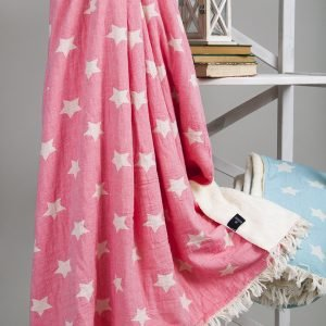 Плед микроплюш Barine – Star Throw pembe 130×170