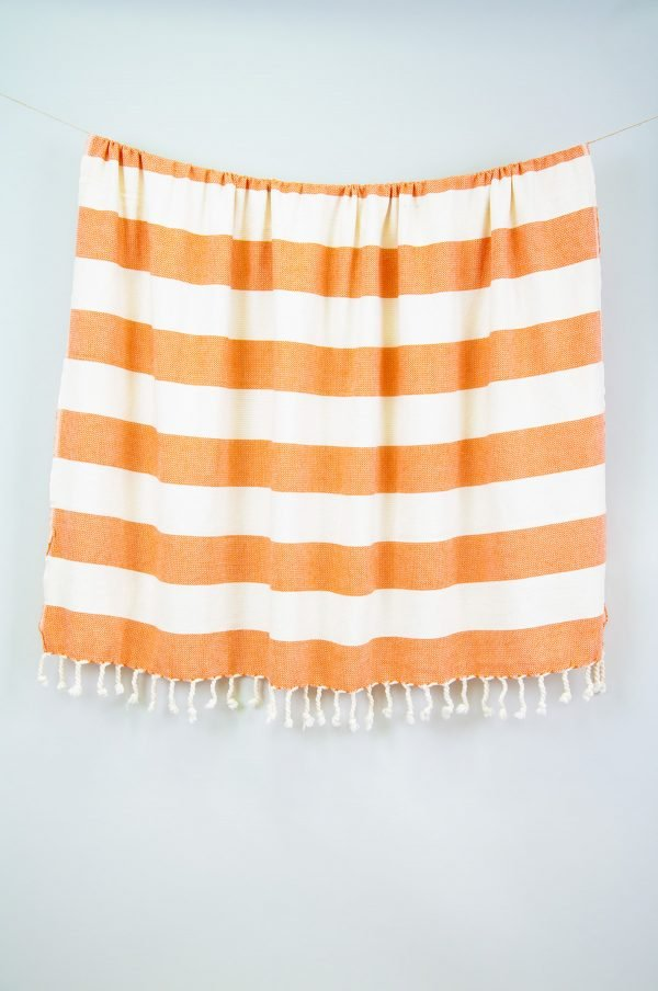 Плед-накидка Barine — Deck Throw Orange 135×160