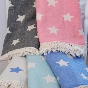 Плед-накидка Barine — Stars Throw pembe 130×170