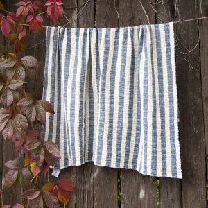 Плед-накидка Barine — Stripe Muslin lacivert 77×82