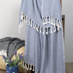 купить Плед-накидка Barine - Wool Basket indigo (2000022200868)