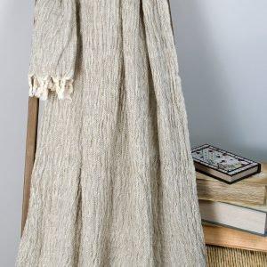 Плед-накидка Barine — Wrinclet natural 160×220