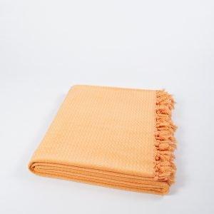 купить Плед хлопковый U.S.Polo Assn - Kalispell желто-оранжевый (961)