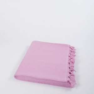 Плед хлопковый U.S.Polo Assn – Kalispell розовый 160×230