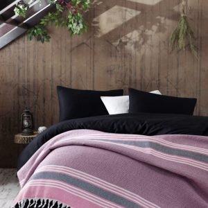Плед Eponj Home — Anna Elmas pembe-siyah 220×240