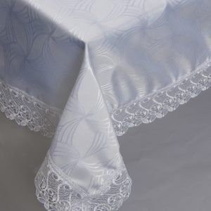 Скатерть жаккардовая – Isadora (Zerya) Z08 белый 160×220