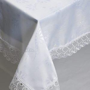 Скатерть жаккардовая – Isadora (Zerya) Z09 белый 160×220