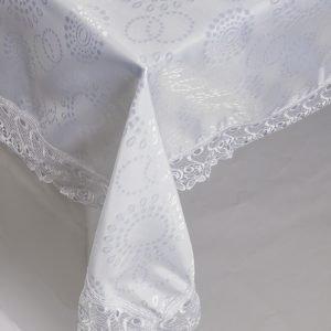Скатерть жаккардовая – Isadora (Zerya) Z10 белый 160×220