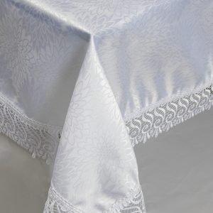 Скатерть жаккардовая – Isadora (Zerya) Z12 белый 160×220