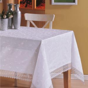Скатерть жаккардовая – Isadora (Zerya) Z17 белый 160×300