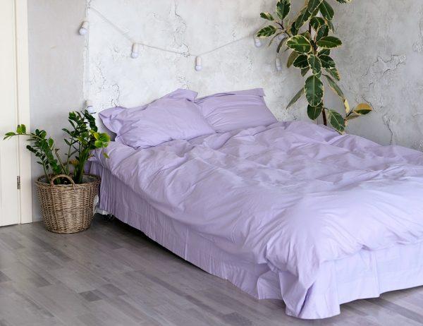 Однотонное постельное белье La Scala сатин S-27