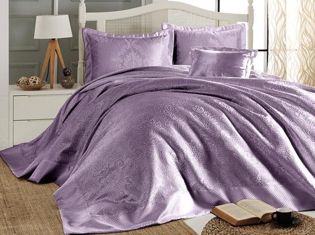 Покрывало для кровати из какого материала лучше