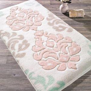 Коврик для ванной Confetti — Damask pudra пудра 57×100