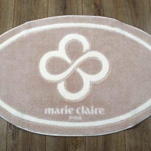 Коврик для ванной Marie Claire — Sally бежевый овал 66×107