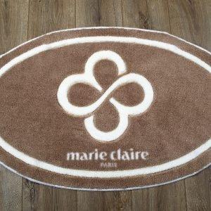 Коврик для ванной Marie Claire – Sally коричневый овал 66×107