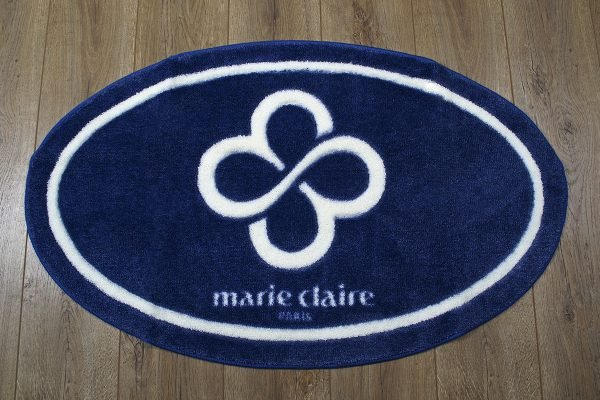 Коврик для ванной Marie Claire – Sally темно синий овал 66×107
