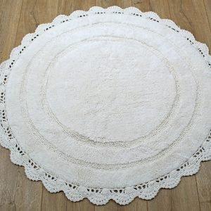 Коврик Irya – Anna ekru молочный 100 см. диаметр
