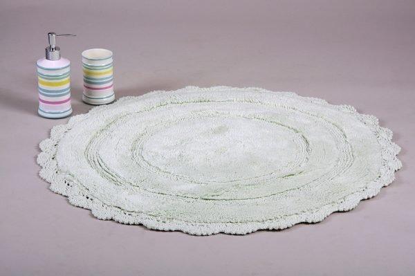 Коврик Irya — Anna mint ментоловый 80 см. диаметр