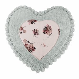 купить Коврик Irya - Essa Heart mavi голубой (sv-11913985232280)