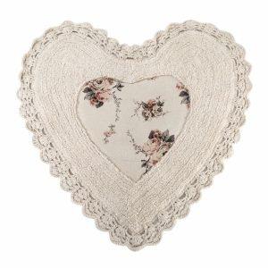 Коврик Irya – Essa Heart natural бежевый 70×70