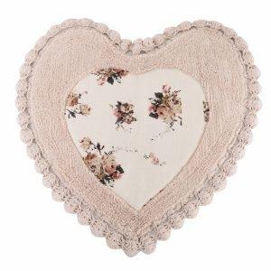 Коврик Irya – Essa Heart pembe розовый 70×70
