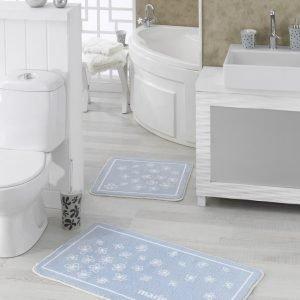 Набор ковриков для ванной Marie Claire – Brezze mavi 57×57|57×100